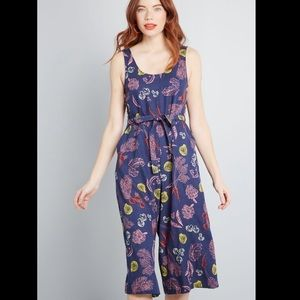 ModCloth Elated All Over Cropped Jumpsuit Small